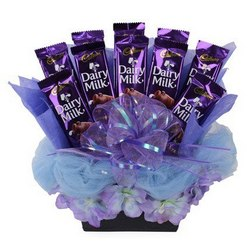 6 Silk chocolate bouquet