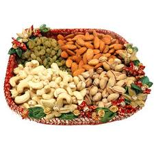 Dry fruits in a tray