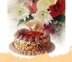 Flowers basket + Chocolate Cake