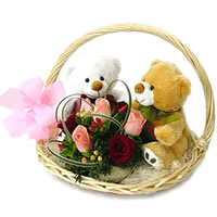 soft toys with roses