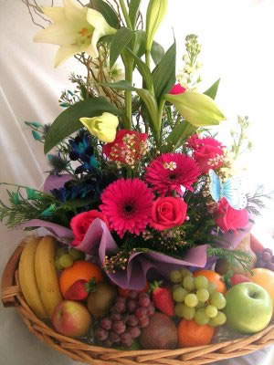 Fresh Fruit and Flowers