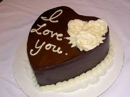 1 Kg chocolate heart Cake icing LOVE