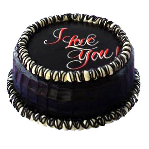 Round Chocolate Cake 1/2 kg with Icing BE MINE